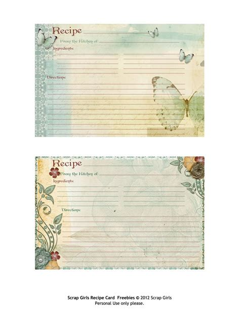 template for thanksgiving recipe cards 320 best recipe scrapbooking printables and blank recipe