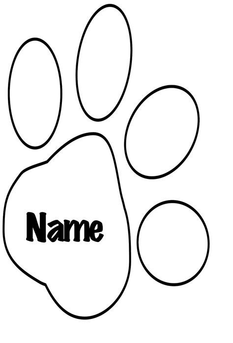 tiger paw template tiger outline template clipart best