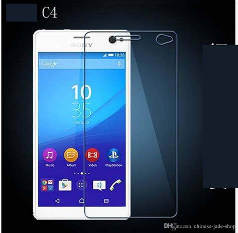 Tempered Glass Sony Xperia C3 C4 Clear Bening Ksj503 for sony xperia c3 c4 c5 xperia z1 compact z3 compact 9h premium 2 5d tempered glass screen