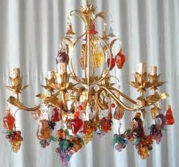 Murano Glass Fruit Chandelier Orange Purple Murano Glass Chandelier Venetian Fruits Chandelier