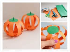 how to make paper halloween pumpkin step by step diy