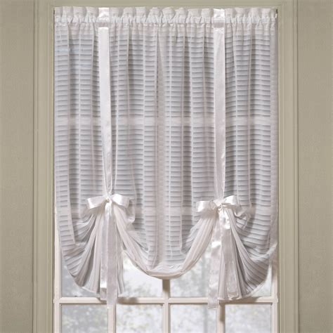Tie Up Window Curtains Nimbus Stripe Tie Up Shade