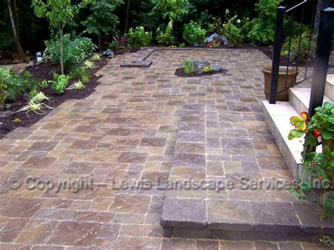 pavers backyard lewis landscape services paver patios portland oregon