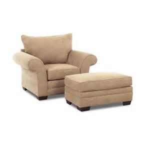 fabric arm chair and ottoman wayfair