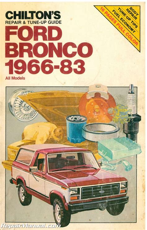 1966 ford small car service manual used chilton 1966 1983 ford bronco repair manual