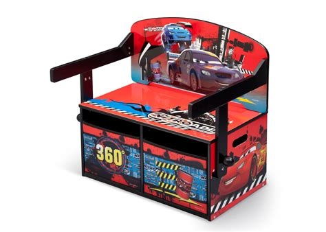 cars storage bench cars 3 in 1 storage bench and desk delta children eu pim