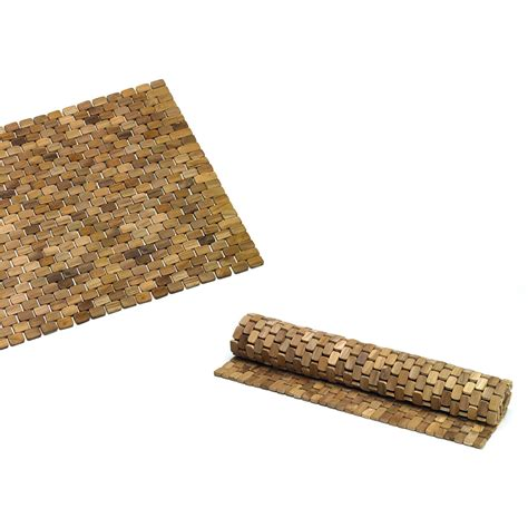 tappeto per doccia tappeto per doccia in legno teak naturale 60x80xh1 8cm ad