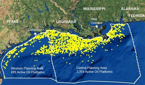 Gulf Of Mexico Continental Shelf by Center For Environment Commerce Energy Active Leases