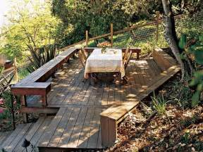 patio designs for sloped yards sloped back yard deck future home ideas