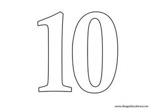 Numero 10 colouring pages