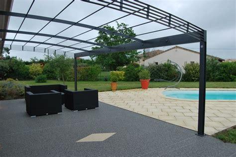 terrasse 8x4m pergola toulouse acier sur mesure contemporaine fer forg 233