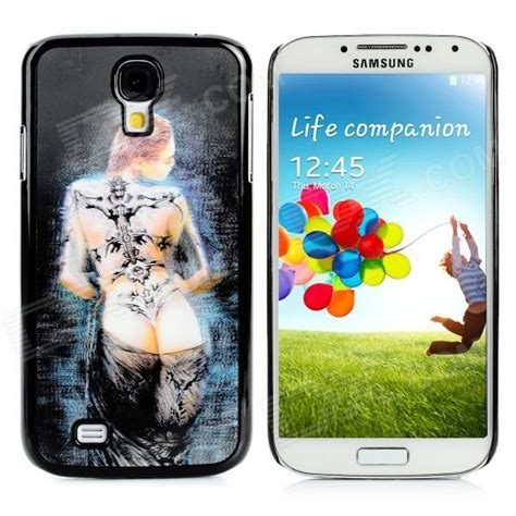 protective 3d pattern plastic back for samsung galaxy s4 i9500 black