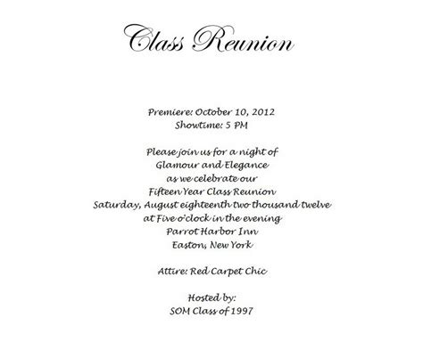 free templates for class reunion invitations pretty class reunion invitations templates gallery