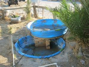 Easy Backyard Pond Ideas Building An Above Ground Pond Stacked Kiddie Pools Make