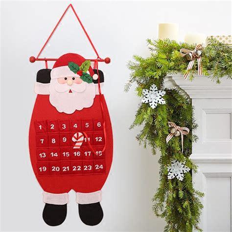 Accesories Aksesoris Asesoris Natal Santa Claus 2017 advent calendar craft santa claus snowman hanging decor pendant