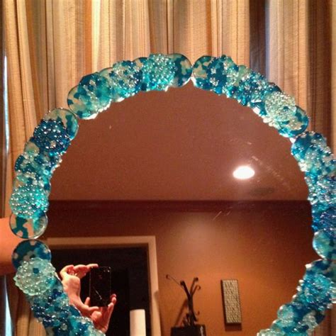 diy mirror frame tips and diy melted bead mirror frame this would require quite a