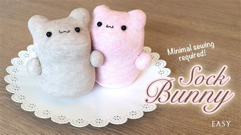 easy sock animals tutorial the best diy kawaii plush tutorial you won t believe