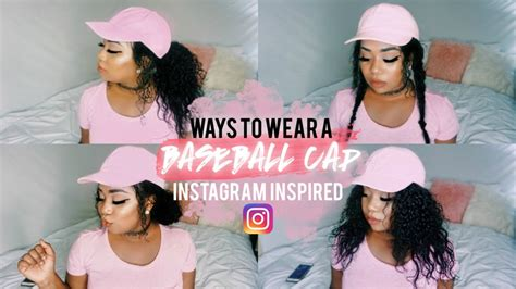 womans topper worn in ponytail baseball cap hairstyles ways to wear instagram
