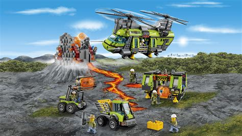 Slovenia Calendrier 2018 60125 Volcano Heavy Lift Helicopter Lego 174 City Products