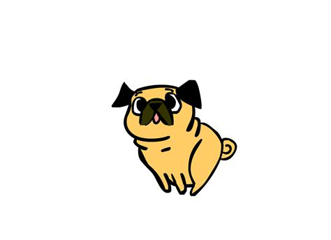 pug animation pug jump by amenduhh on deviantart