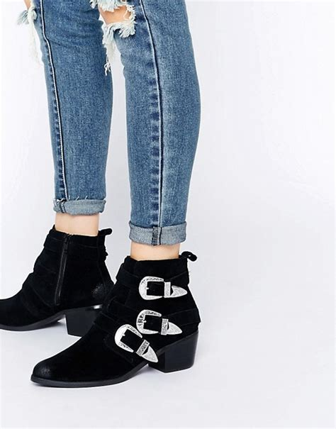 Roller Boot Pendant From Asos by Asos Asos Rocker And Roller Western Buckle Ankle Boots