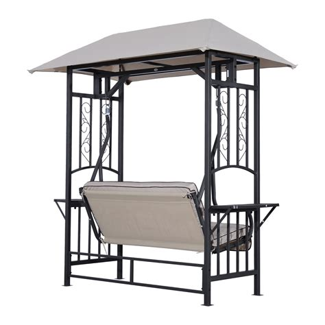 big w swing chair outsunny 2 person patio swing chair porch outdoor hammock