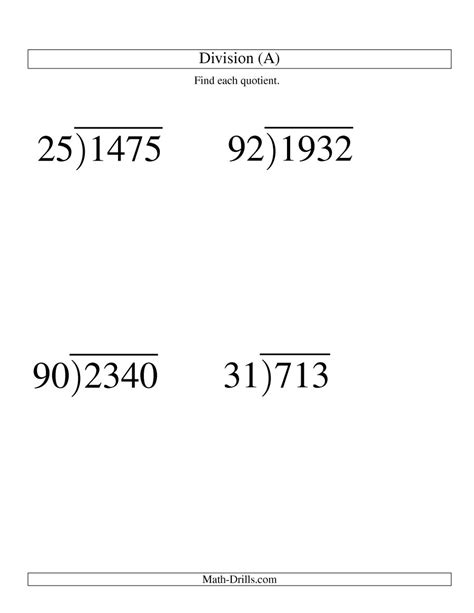 free printable division worksheets with 2 digit divisors long division two digit divisor and a two digit quotient