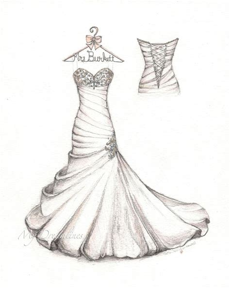Outstanding The Most Beautiful Wedding Gown Sketch - Arsip.tembi.net