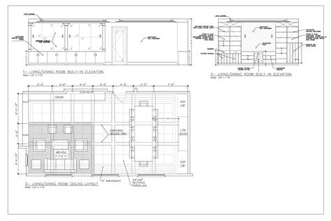 s room pdf dining table plan elevation section pdf woodworking