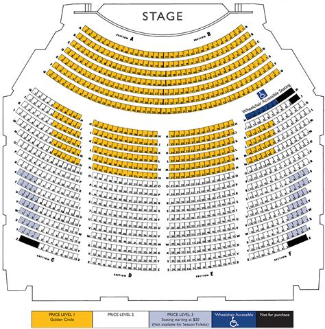auditorium seating chart seating chart performing arts center