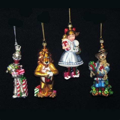 ksa set of 4 noble gems blown glass wizard of oz christmas
