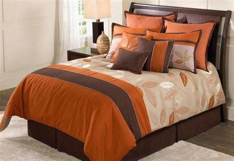orange and brown comforter sets garwood comforter set for fall orange brown bedset