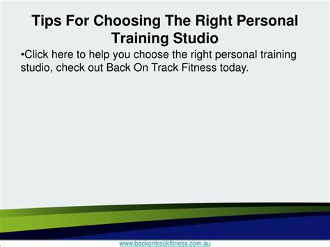 10 Tips For Choosing The Right Personal Trainer by Ppt Tips For Choosing The Right Personal Studio