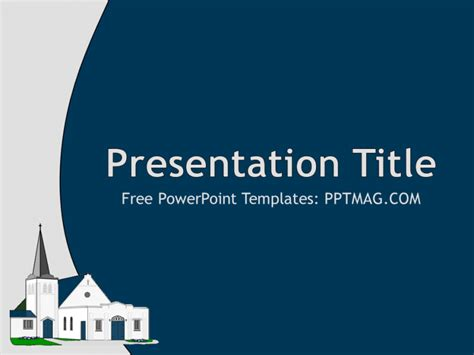 Free Church Powerpoint Template Pptmag Powerpoint Church Templates