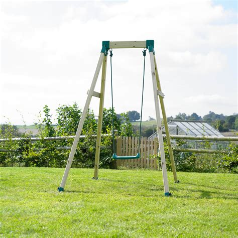 buy wooden swing set tp toys tp forest single wooden swing set 230475709