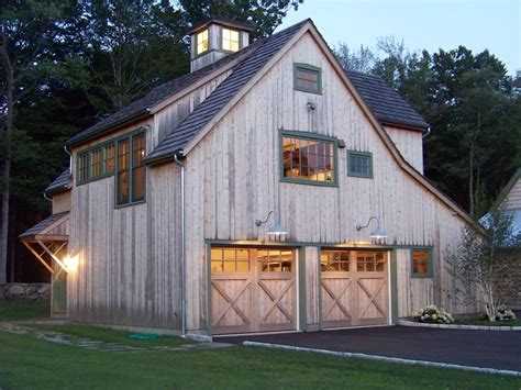 barn garage designs barn with living quarters garage and shed rustic with barn carriage doors cupola garage green