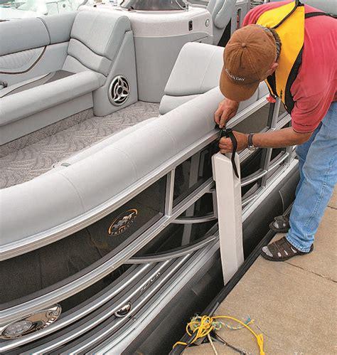 pontoon boat dock bumpers make fast pontoon deck boat magazine
