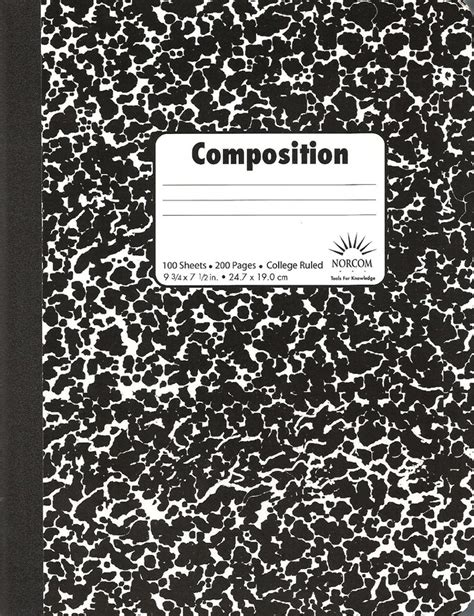 composition notebook pattern illustrator supplies for interactive notebook kinderactive series