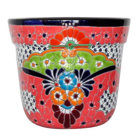 Mexican Planters Large by Talavera Planters Collection Talavera Planter Tctp353