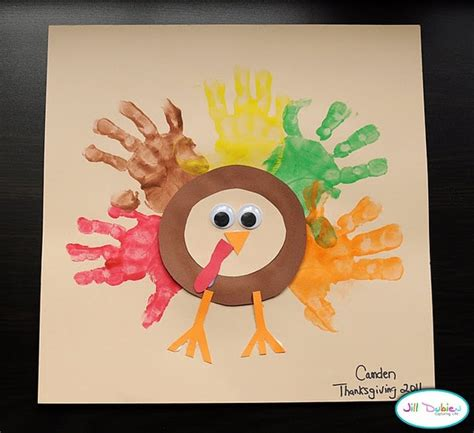 handprint turkey crafts for handprint turkey toddler lesson plan ideas