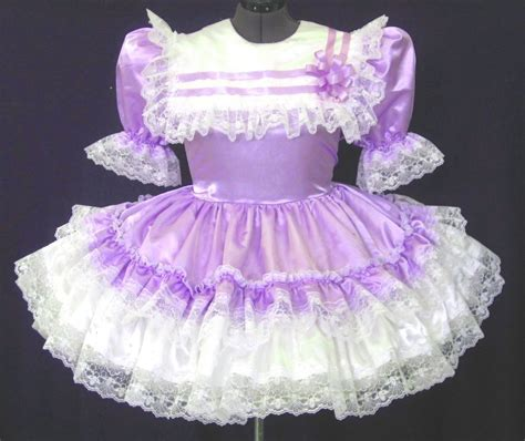 Dress Of The Day B With G Baby Doll Dress 2 by Custom Fit Lacy Satin Baby Sissy Dress Leanne Ebay