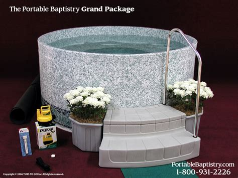 portable baptismal pool portable baptistry anyone using this chris vacher chrisfromcanada