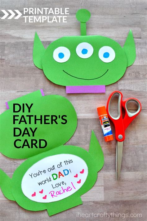 s day card craft ideas template out of this world s day card i crafty