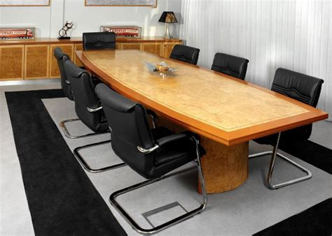 boardroom table in veneer with border meeting table