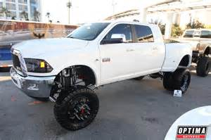 lifted dodge dually at sema 2013 dually