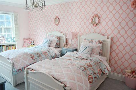 girls bedroom stencils liesl and ariella s big girl room project nursery
