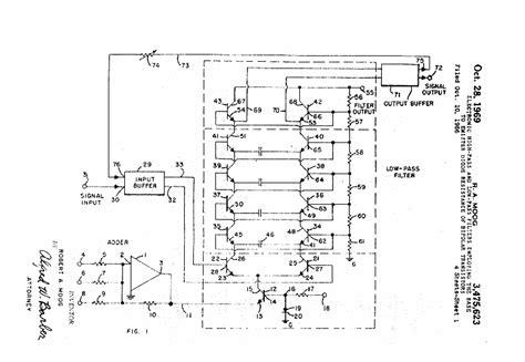 resistor ladder filter robert moog s ladder filter patent