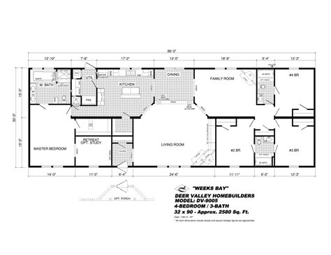 deer valley mobile home floor plans dv 9005 weeks bay deer valley homebuilders