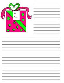 Free Christmas Writing Paper Christmas Printable Writing Paper