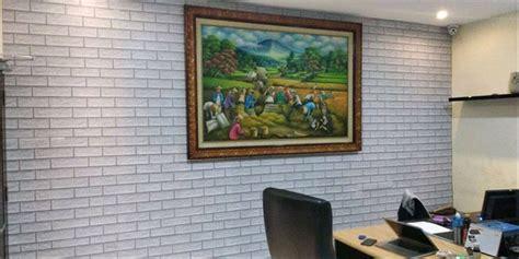 jual wallpaper dinding batu bata putih  lapak raja